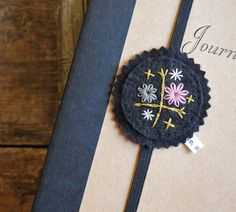 I'll Hold Your Place Hand Embroidered Felt Bookmark by lovemaude