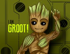 """Check out new work on my @Behance portfolio: """"Baby Groot fanart"""" http://be.net/gallery/53202119/Baby-Groot-fanart"""