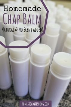 Homemade Lip Balm Recipe - All-Natural and No Scents Added This homemade lip balm recipe works great on my sensitive skin. It is a basic recipe with no fragrances, dyes, or toxic chemicals. Come check out the recipe. Homemade Lip Balm, Diy Lip Balm, Tinted Lip Balm, Homemade Soaps, Chapstick Ingredients, Beeswax Recipes, Lip Balm Recipes, Food Words, Basic Recipe