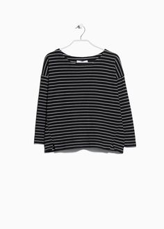 Striped textured sweatshirt