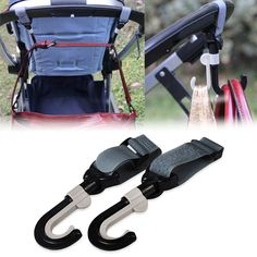 Hot Stroller Hook Hanger Pothook Baby Stroller Pram Double Rotate Hook Pushchair Hanger Plastic Resin Shaft
