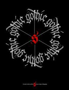 Circular Gothic Calligraphy | da steveczajka
