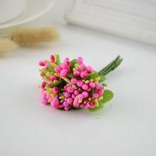10ks hedvábí tyčinka Umělé květiny pro svatební výzdoba ruční práce DIY Bride kytice s dárky Scrapbooking věnec Fake Flower (Čína (pevninská část))