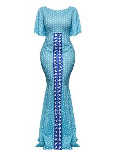 African Evening Dresses, African Dresses For Women, African Print Fashion, Star Patterns, Half Sleeves, Short Sleeve Dresses, Formal Dresses, Maxi Dresses, Fashion Design