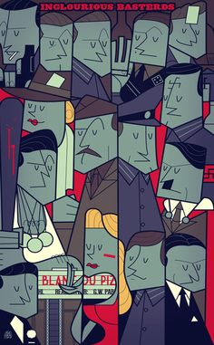 Inglourious Basterds Art Print by Ale Giorgini Inglourious Basterds, Pulp Fiction, Ale Giorgini, Illustrations, Illustration Art, Geeks, Graffiti, Cartoon Posters, Cartoons