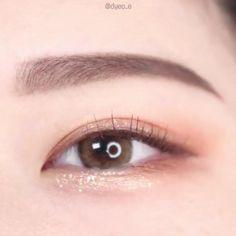 Korean Eyeshadow, Korean Eye Makeup, Korean Eyeliner, Daily Eye Makeup, Skin Makeup, Asian Makeup Tutorials, Kawaii Makeup, Pinterest Makeup, Makeup Makeover