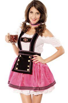 4pcs Sweet Flirting Beer Babe Costume