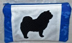 Chow Chow Silhouette Embroidered Purse, Pouch, Accessory Bag by woosbagsandcrafts on Etsy