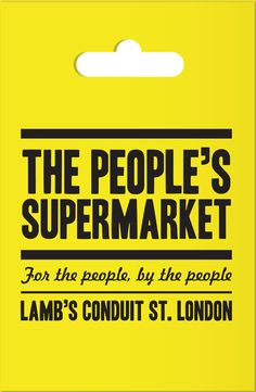 The People's Supermarket Mission statement:   Our vision is to create a commercially sustainable, social enterprise that achieves its growth and profitability targets whilst operating within values based on community development and cohesion. Our intent is to offer an alternative food buying network, by connecting an urban community with the local farming community.