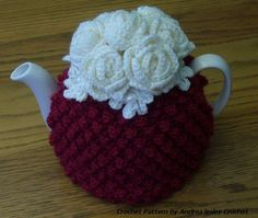 Pattern for Crochet Tea Cosy with Roses by andrealesleycrochet, £4.00