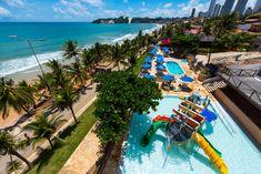 O Espaço Praiamar Beach é uma área de lazer com piscinas para adultos e crianças, parque aquático infantil, sala de jogos, playground, restaurante, lojas e acesso direto à praia de Ponta Negra. Rio Grande, Surf, Outdoor Decor, Kid Pool, Water Playground, Game Room, Play Areas, Pools, Restaurant
