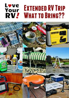 "http://www.loveyourrv.com/things-we-pack-for-extended-rv-trips/ - I often get asked by new RVers ""What do you pack for extended RV trips?"". With this in mind, I've put together our current packing lists. I've likely forgotten a few things and haven't listed clothes, medicines, personal, our pet stuff or bathroom type items. Hopefully, though if you are new to the RVing world it will give you a few ideas and hints on what you may like to bring along."