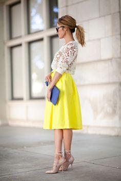 Midiröcke sind romantisch und business-tauglich