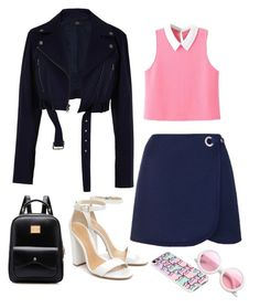 """""""Untitled #314"""" by myriamsarah on Polyvore featuring Topshop, TIBI, WithChic, Schutz, Pusheen and ZeroUV"""