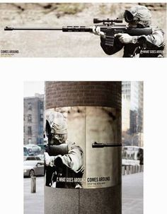 What goes around comes around.  A campaign against wars.