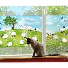 Vindusfolie Sauer 70cm X 1.5m - innsysnhiundrende vindusdekor for barnerom eller bare for saue-elskere! Homemaking, Cats, Disney, Animals, Madness, Pictures, Gatos, Home Economics, Kitty Cats