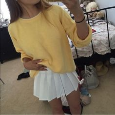 American Apparel Skirts - White pleated tennis skirt