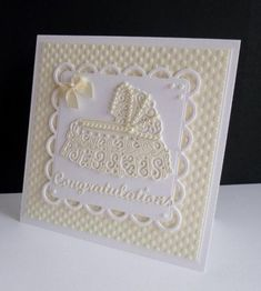 Wow the members of splitcoaststampers. com never cease to amaze me with their creations and this gorgeous card is no different. Used Spellbinders, Tattered Lace and Elizabeth dies and no color was added. ♥ Love ♥
