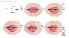 lips tutorial by *mirukawa on deviantART