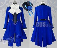 Black Butler - Kuroshitsuji Ciel Phantomhive Cosplay Costume - Blue outfit. Amanda's top pick.