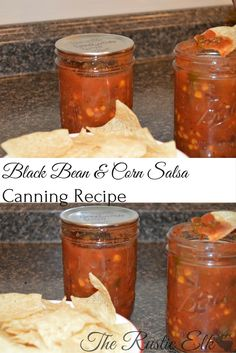 We love salsa in our house. Black bean and corn salsa is our absolute favorite. Not too spicy, not bland, and absolutely delicious with some homemade tortilla chips. This is an amazing recipe and completely safe for canning. Salsa Canning Recipes, Canning Corn, Canning Salsa, Black Bean Salsa Canning Recipe, Canning 101, Pressure Canning Recipes, Canning Tomatoes, Homemade Tortilla Chips, Homemade Tortillas