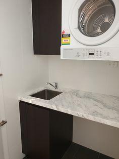 Small Laundry, Bathroom Lighting, Mirror, Furniture, Home Decor, Laundry Room Small, Bathroom Light Fittings, Bathroom Vanity Lighting, Decoration Home