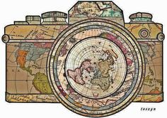 Where on earth are you and your Langly camera bag? Camera Drawing, Camera Art, Diy Tattoo, Travel Sticker, Travel Doodles, Psychedelic Drawings, Tattoo Style, Travel Party, Photography Pics