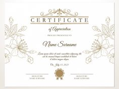 Printable Certificate, Certificate Template EDITABLE, Blank Certificate Template, Printable Certificate of Appreciation Template, Download Free Printable Certificate Templates, Certificate Design Template, Free Certificates, Invitation Card Format, Certificate Of Appreciation, Letterhead Template, Craft Room Storage, Print Templates, As You Like