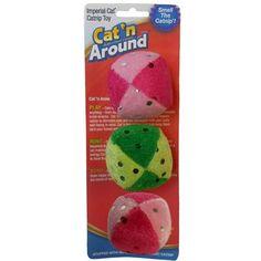 Glitter Catnip Ball Trio - BD Luxe Dogs & Supplies - 1