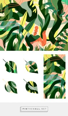 Patterns of nature by Diana Stoyanova on Dribbble. - a grouped images picture Illustration Story, Forest Illustration, Graphic Design Illustration, Floral Illustrations, Illustrations Posters, Dora Drawing, Jungle Art, Beautiful Drawings, Patterns In Nature