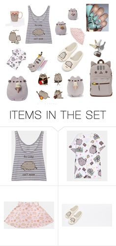 """Pusheen"" by sun8urned ❤ liked on Polyvore featuring art"