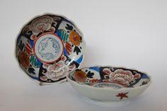 Japanese Vintage - Taisho-era 1920's  Hand painted Pottery bowls