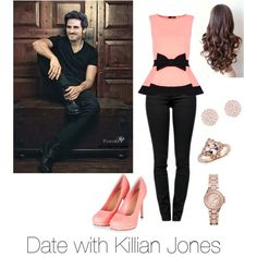 A Date with Killian Jones♡ by noor983 on Polyvore featuring polyvore fashion style Dorothy Perkins Proenza Schouler Michael Kors Swarovski