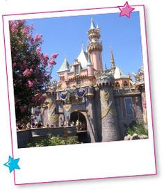 Castle at the Magic Kingdom at Disneyland in California