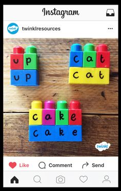 Matching letters with the base to make words. Great for phonics!