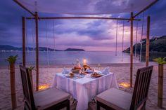 Restaurant at 5 star hotel: Thavorn Beach Village Resort & Spa. This hotel's address is: Moo Nakalay, Kamala Beach Kamala Phuket 83150 and have 185 rooms Thailand Vacation, Thailand Honeymoon, Phuket Thailand, Cabana Restaurant, Bangkok Restaurant, Thavorn Beach Village, Keemala Phuket, Phuket Travel Guide, Beaches In Phuket