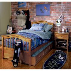 bedroom boys brick bedrooms rooms teen cool decorating decor boy designs walls bricks ben birthday simple creative kid visit shared