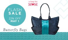 A Bag for Mom - Maggie Bags Butterfly Bag Flash Sale 22% Off May 1 Only