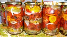 Tomatoes in Winter Pickled Tomatoes Canning Vegetables, Veggies, Pickled Tomatoes, Polish Recipes, French Onion, Canning Recipes, Beets, Pickles, Cucumber