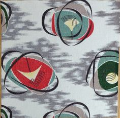 1950s: Barkcloth fabric.