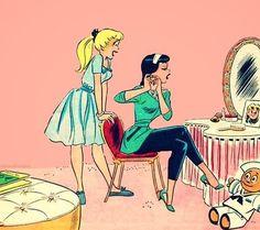Archie's Bettie and Veronica ❤️  artwork: Dan DeCarlo