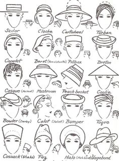Hat shapes and names
