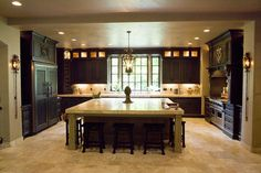 Gourmet Kitchen | Large Gourmet Kitchen Custom Cabinets Design Ideas, Pictures, Remodel ...