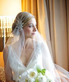 Art Deco Juliet Cap Veil