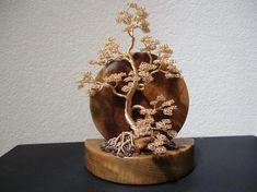Ficus, Wire Tree Sculpture, Sculpture Ideas, Sculpture Art, Bonsai Wire, Golden Tree, Wiccan Crafts, Wire Trees, Miniature Trees