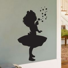 child fairy sillouette | ... - Silhouette - Wall Decals | Shop kids,parenting, family | Kaboodle