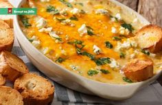 Leek Dip, Buffalo Chicken Dip Ingredients, White Cheddar, Blue Cheese, Dip Recipes, Cheeseburger Chowder, Dips, Curry, Appetizers