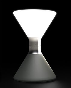 The Hourglass Lantern works like traditional hourglasses but turns the thousand year old tech upside down (literally) by using LEDs instead of sand. Led Lantern, Lanterns, Lamp Design, Lighting Design, Hourglass Timer, Lampshade Designs, Light Emitting Diode, Camping Lights, Yanko Design