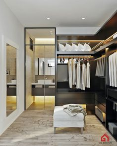 Modern House & Modern Interiors. Ho Chi Minh City, Vietnam. Dressing Room is designed by Gil Design. Gildesign.vn