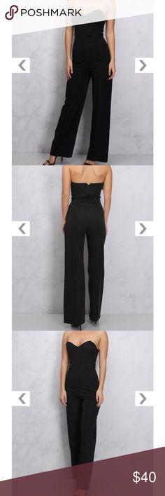 BLACK SWEETHEART NECKLINE JUMPSUIT size 2 Such a hot jumpsuit!! Love it!! Rare London Pants Jumpsuits & Rompers
